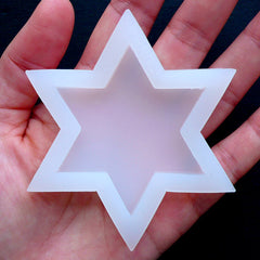 Six Point Star Silicone Mould | Hexagram Mold | Sexagram Flexible Mold | Epoxy Resin Art Supplies (50mm x 58mm)