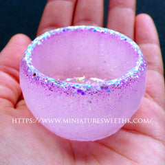 Small Candle Bowl Mold | Faceted Round Bowl Flexible Mold | Epoxy Resin Silicone Mould | DIY Your Own Bowl (47mm x 29mm)