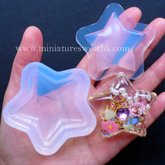 Star Resin Shaker Charm Silicone Mold | Kawaii Resin Mould | DIY Cabochon with Liquid Waterfall | Epoxy Resin Art (50mm x 47mm)