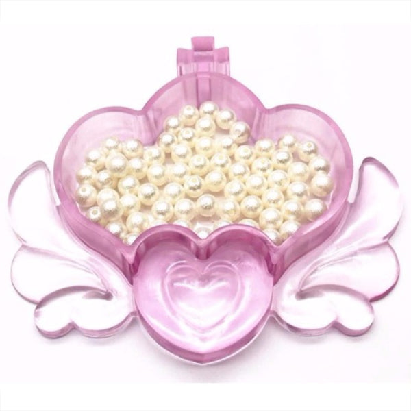 Magical Trinket Box Silicone Resin Mold   Crown Container with Angel Wings    Make Your Own Jewelry Box   Kawaii Craft Supplies (13 5cm x 12cm)