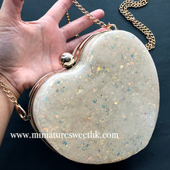 Heart Shaker Clutch Handbag Silicone Mold with Findings | Kawaii Clear Bag Making | Resin Art Supplies (16.5cm x 15cm)