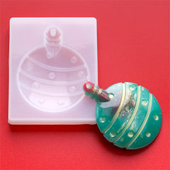 Christmas Ornament Silicone Mold | Festival Home Decoration | Resin Art Supplies (60mm x 76mm)