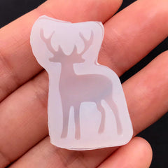 Deer Silicone Mold | Mini Animal Mold | Kawaii UV Resin Soft Mold | Resin Art Supplies | Small Embellishment Mould (20mm x 31mm)