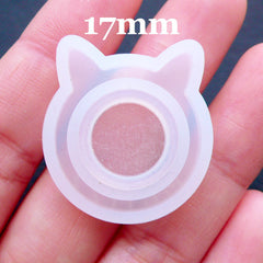 Cat Ring Mould | Kitty Ear Ring Mold | Kawaii Animal Ring Mold | Resin Jewellery Silicone Mould | Flexible Mold Supplies | Epoxy Resin Craft | UV Resin Jewelry (Size 17mm)