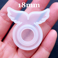 Kawaii Fairy Kei Jewellery Mold | Silicone Ring Mould in Angel Wings Shaped | Resin Jewelry Mould | Flexible UV Resin Mold | Epoxy Resin Mold Supplies (Size 18mm)