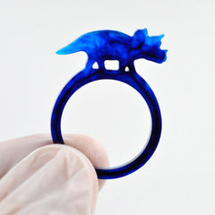 Dinosaur Ring Mould | Triceratops Ring Mold | Kawaii Resin Jewelry Mould | Flexible Jewellery Mold | Silicone Resin Mold | Epoxy Resin Art | UV Resin Crafts (Size 17mm)