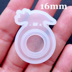 Kawaii Jewelry Mold | Dinosaur Ring Mold | Resin Ring Mould in Triceratops Shape | Dino Jewellery Mould | Flexible Resin Mould | Clear Silicone Mold | UV Resin Art | Epoxy Resin Crafts (Size 16mm)