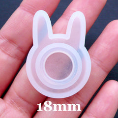 Rabbit Ring Mold | Bunny Ear Ring Mould | Clear Silicone Mould | Flexible Jewellery Mold | Kawaii Epoxy Resin Crafts | UV Resin Art | Easter Animal Jewelry (Size 18mm)