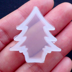 Christmas Tree Silicone Mold | Christmas Ornament Mould | Christmas Resin Crafts | Clear Flexible Mold | Kawaii Resin Art | UV Resin Mold (20mm x 28mm)