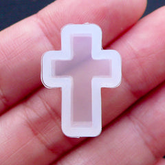 Cross Mold | Christmas Silicone Mould | Halloween Flexible Mold | Kawaii Gothic Lolita Jewelry | UV Resin Art | Religion Catholic Christian Baptism (12mm x 18mm)