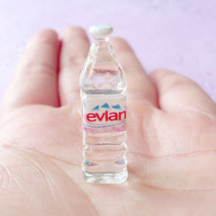 Dollhouse Water Bottle | Miniature Evian Drink | 1:12 Scale Doll House Supplies (10mm x 31mm)