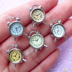 1:12 Scale Dollhouse Alarm Clock | Doll House Furniture | Miniature Room Item (Silver / 1 piece by Random / 11mm x 16mm)