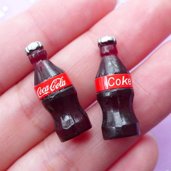 Dollhouse Coca Cola Bottle | 1:12 Scale Miniature Coke | Doll House Drink (8mm x 23mm)