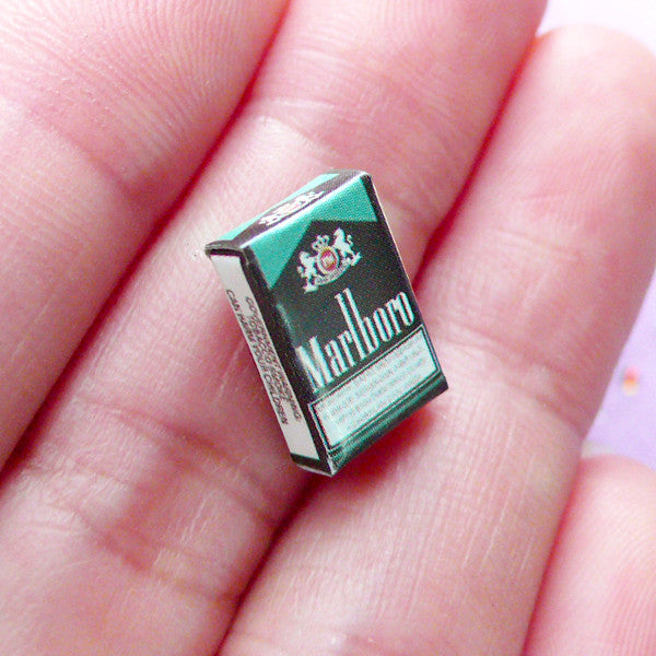 Dollhouse Miniature Tobacco Pack | 1:12 Scale Doll House Marlboro Cigarette (8mm x 13mm)