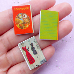 Dollhouse Miniature Books | 1:12 Scale Doll House Library (Set of 3 pcs / 16mm x 24mm)