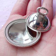 Dollhouse Miniature Domed Silver Serving Tray | Doll House Food Tray with Cover