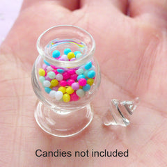 Dollhouse Miniature Glass Candy Jar | 1:12 Scale Doll House Glassware (14mm x 26mm)