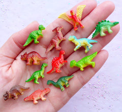 Dollhouse Miniature Dinosaur | Terrarium & Bonsai Supplies | Small 3D Animal Toy | Fairy Garden Decoration (12pcs by Random)