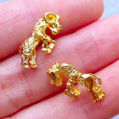 Aries Charms | Astrology Sign Charm | Horoscope Jewelry | Zodiac Filling Materials | Kawaii UV Resin Art (2pcs / Gold / 17mm x 8mm)