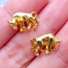 Taurus Charms | Horoscope Sign Charm | Zodiac Jewellery | Astrology Filling Materials | Kawaii UV Resin Supplies (2pcs / Gold / 14mm x 9mm)