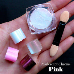 Iridescent Pearlescent Pigment (Pink) for Resin Coloring | Shimmer Pearl Pigment | Chrome Pigment | Nail Art Supplies (2 grams)