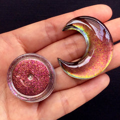 Color Shifting Pigment | Mirror Chrome Pigment Flakes | Magical Chameleon Pigment | Resin Cabochon DIY (0.2 gram / Red Gold)