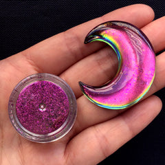 Magical Pigment Flakes | Chameleon Color Shift Pigment | Galaxy Resin Colouring | Mirror Chrome Pigment | Decoden Supplies (0.2 gram / Magenta Pink)