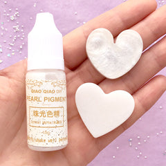 Pearl Liquid Pigment | Shimmer Resin Colorant | Resin Dye | Resin Cabochon Coloring | Resin Colour | Resin Painting (Crystal White / 15 grams)