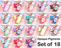 Opaque Pigment Set for Resin Craft | UV Resin Colorant | Epoxy Resin Color | Resin Colouring | Resin Dye | Resin Paint (Set of 18 Colors)