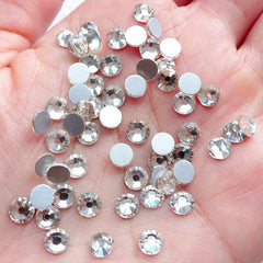 SS20 Faceted Glass Rhinestones | 4.5mm Clear Round Crystal Rhinestones | Bling Bling Wine Glass Decoration | Phone Case Deco | Wedding Party Decor | Card Making (80pcs)