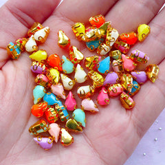 Tear Drop Sew On Rhinestones | Neon Color Teardrop Acrylic Gems | Sewing & Nail Art Supplies (5mm x 8mm / Bright & Pastel Colorful Mix / 4pcs by Random)