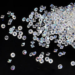 Assorted Pointed Back Rhinestone Wheel | SS3 to SS20 Glass Round Rhinestones | Bling Bling Decoration (AB Transparent Clear / 100pcs)