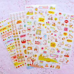 Cute Gold Foil Alphabet Letter Stickers Triangle Bunting Flag Card Making Kawaii