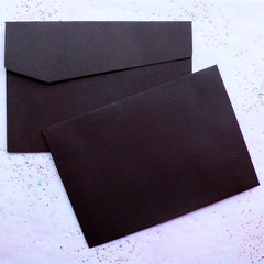 "Black Envelopes | Party Invitations | Greeting Card Supplies | Announcement Making | Papercraft & Stationery (10pcs / 17cm x 11.8cm / 6.69"" x 4.65"")"