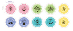 Doily Stickers | Round Lace Stickers | Seal Stickers | Packaging Supplies | Home Decoration | Gift Deco (10 Designs / 50 Pieces)