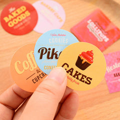 Bakery Shop Stickers | Cookie Patisserie Bread Cake Cafe Confectionery Stickers | Seal Stickers | Product Packaging | Collage & Scrapbooking Supplies (45 Pieces)