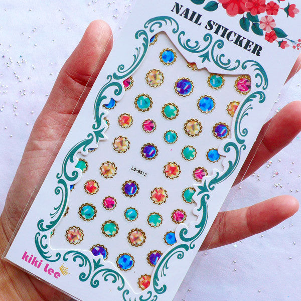 Nail Stickers | Rhinestone Stickers | Nail Decoration | Home Decor | Mini Round Stickers | Scrapbook Supplies | Card Making | Embellishments