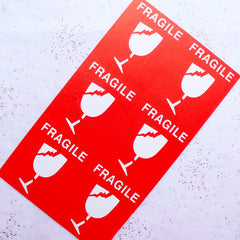 Fragile Stickers | Fragile Labels | Mailing Stickers | Postage Stickers | Packaging & Shipping Supply for Etsy Shop Sellers | Online Business Supplies (60 Stickers / 75mm x 87mm)