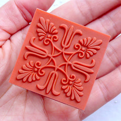 Decorative Rubber Stamp | Flower Lace Stamp | Flower Filigree Stamp | Crystal Square Stamp | Zakka Craft Supply | Wedding Card Making | Floral Scrapbooking | Paper Craft Supplies | Stationery