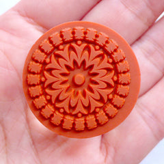 Round Doily Stamp | Filigree Rubber Stamp | Decorative Stamp with Lace Doiley Pattern | Wedding Decor | Card Making | Zakka Scrapbook Supplies | Paper Craft | Stationery