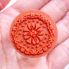 Filigree Doily Stamp | Decorative Rubber Stamp | Round Lace Stamp | Doyley Stamp | Papercraft Supply | Card Decoration | Zakka Scrapbooking | Stationery Shop
