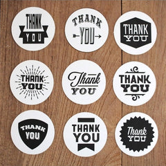 Round Thank You Seal Stickers by Nacoo | Product Packaging | Gift Wrapping | Thanksgiving Day Party Favors | Card Making | Etsy Shop Supplies (9 pieces)