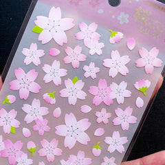 Pink Sakura Stickers by Mind Wave | Japanese Cherry Blossom Stickers | Flower Seal Stickers | Floral Scrapbook | Card Making | Planner Deco Sticker Supplies