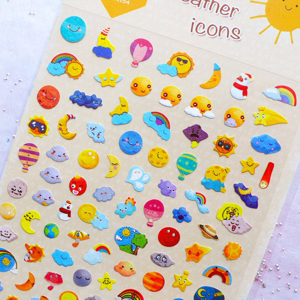 Small Star Icon Decorative Planning Stickers for Erin Condren Life and Petite Planner Colorful Colorway