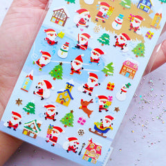 Santa Claus Stickers | Snowman Sticker | Christmas Label | Winter Collection Sticker by Mind Wave | Diary Deco Sticker | Christmas Party Decoration | Japanese Sticker Supplies | Christmas Scrapbook