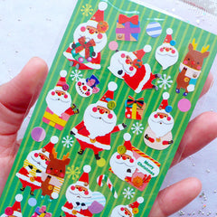 Christmas Santa Claus Stickers | Christmas Seal Label | Christmas Planner Stickers | Christmas Packaging Supplies | Christmas Decoration | Christmas Scrapbooking | Erin Condren Stickers