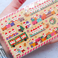 Christmas Planner Stickers | Santa Claus Label | Journal Deco Stickers | Filofax Stickers | Erin Condren Stickers | Kikki K Stickers | Holiday Decoration | December Sticker | Christmas Supplies