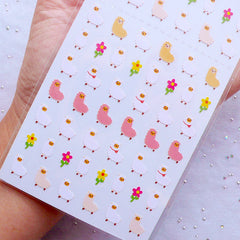 Alpaca Stickers | Llama Stickers | Animal Label | Kawaii Deco Sticker | Life Planner Supplies | Erin Condren Sticker | Kikki K Sticker | Filofax Stickers | One Point Seal | Korean Stationery