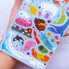 Arctic Animals Stickers by Mind Wave | Antarctica Animal Label | Polar Region Animal Seal Stickers | Kawaii Stationery from Japan | Kikki K Stickers | Filoxfax Stickers | Erin Condren Stickers | Journal Deco Sticker | Scrapbook Embellishments
