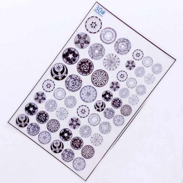 Magic Circle Clear Film for UV Resin | Sacred Geometry Embellishments | Magical Girl Accessories Making | Mahou Kei Resin Fillers